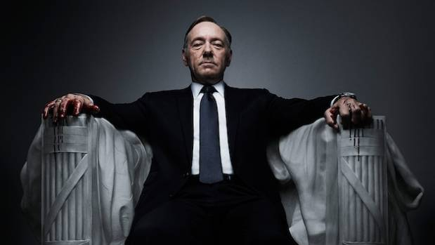 Kevin Spacey as Frank Underwood in House of Cards season 4.