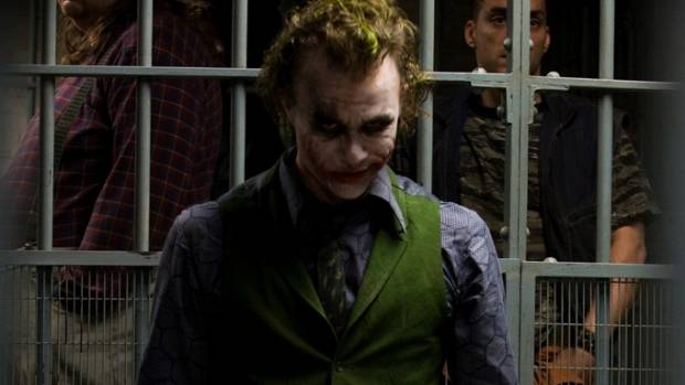 Heath Ledger won an Oscar for playing The Joker in The Dark Knight.