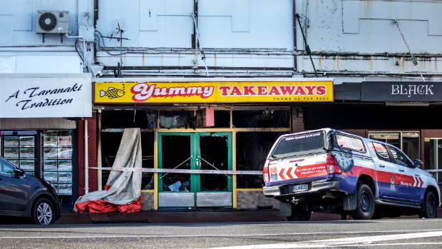 Yummy Takeaways was severely damaged in the fire which broke out on Monday night.