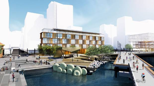 Athfield Architects' images of the proposed Willis Bond development at Site 9. The planned Site 10 development is on the ...
