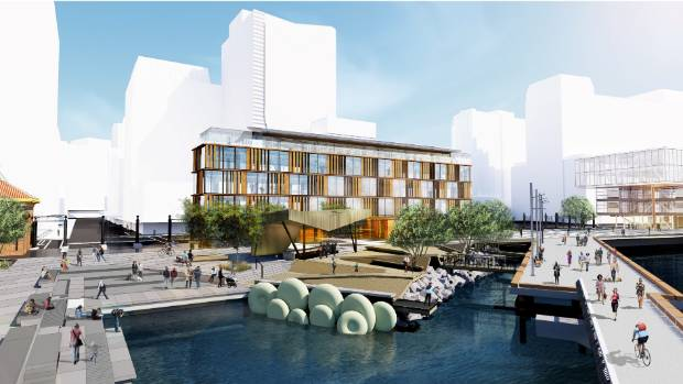 An artist's impression of the proposed building at Site 9 on Wellington's waterfront. The Site 10 development is on the ...