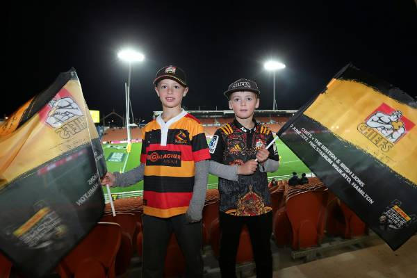 Young Chiefs fans show their colours.