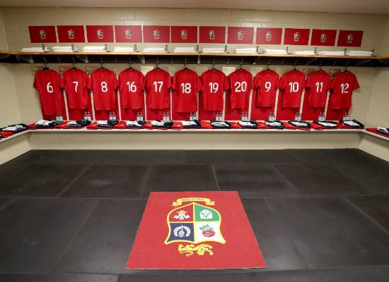 A view of the Lions' dressing room.