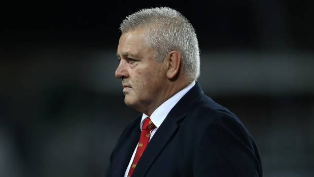 Warren Gatland watched on as his Lions played the Chiefs in Hamilton.