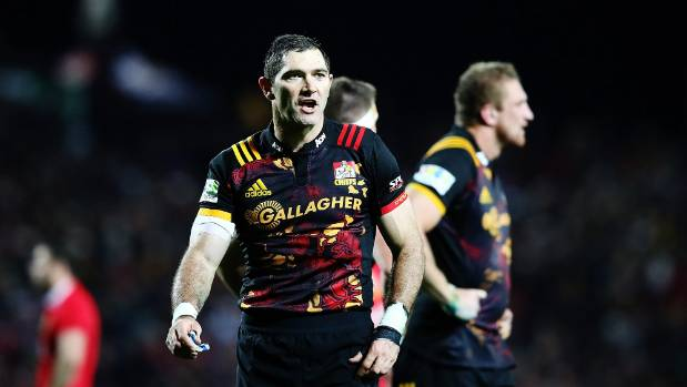 It was a tough night for Chiefs captain Stephen Donald behind a beaten pack.