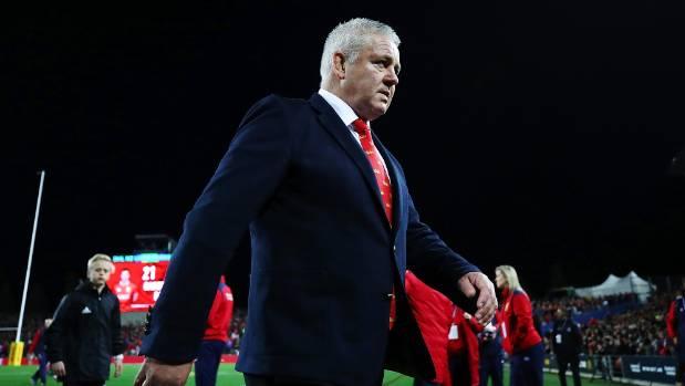 Lions coach Warren Gatland walks off FMG Stadium Waikato triumphant, after his side took apart the Chiefs on Tuesday night.