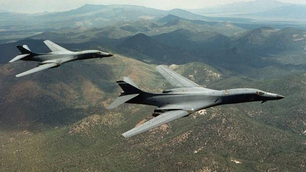 The US Air Force sent a pair of B-1B Lancer bombers to the Korean Peninsula for two separate drills with Japanese and ...