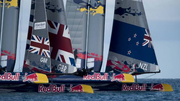 NZL Sailing Team and Land Rover BAR Academy race during day two of the Youth America's Cup.