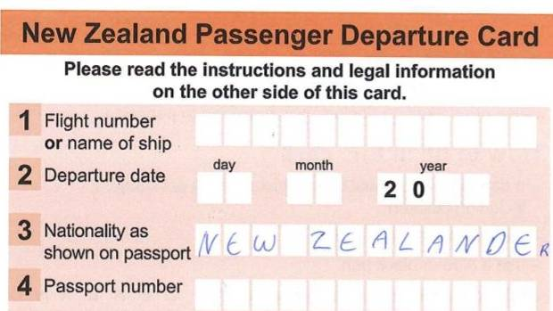 Departure cards to be gone by christmas stuff the government has adopted a recommendation from australian and new zealand business leaders reheart Choice Image