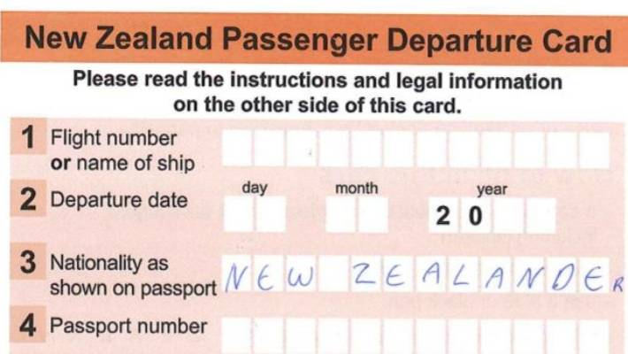 Departure cards to be gone by Christmas | Stuff co nz