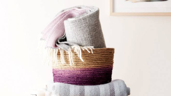 Fabric Laundry Hamper Nz: DIY Rope Basket