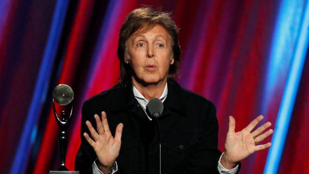 Paul McCartney said he now snacked on salted cashew nuts and chocolate covered raisins before shows.