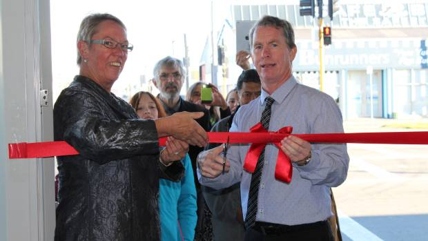 Dyson and Canterbury president Greg Pateman open the new Deaf Society of Canterbury clubrooms in 2015. She has long ...