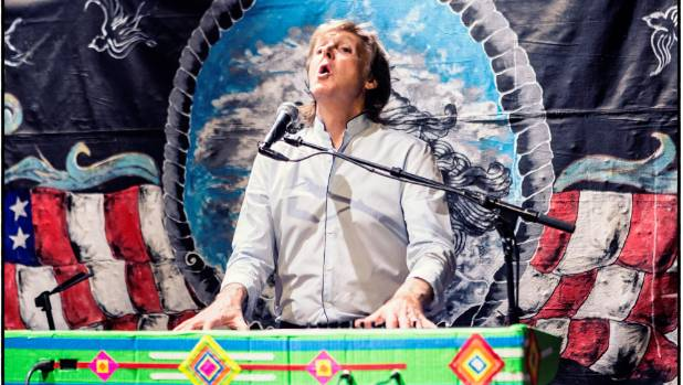 Paul McCartney performs at Pappy and Harriet's Pioneertown Palace in California.
