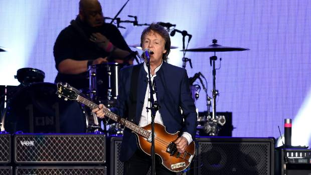 Paul McCartney performs at California's Empire Polo Field on October 15, 2016