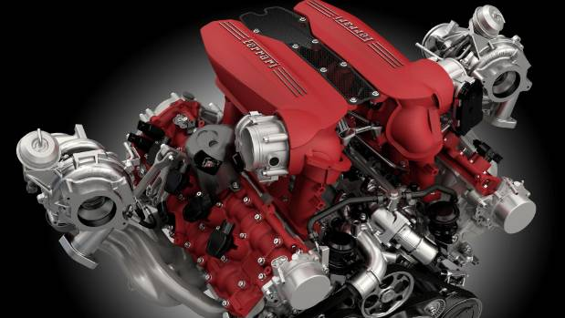 Ferrari's 3.9-litre V8 wins Engine of the Year award