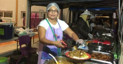 Shian Taithul of The Wise Collective serves home made delights at the market.