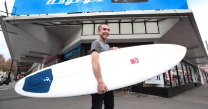 John Hogan is catching a new business wave, selling his Nelson surf shop after 12 years of doing business.