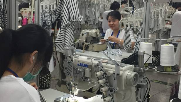 About 300 garment workers at Wuxi Everbright make 200,000 garments for Cotton On a month.