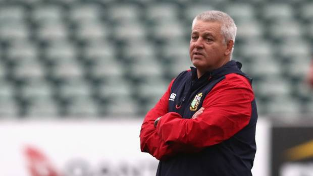 """Lions coach Warren Gatland says at least one All Black """"dived blindly"""" at Conor Murray when attempting a chargedown, ..."""