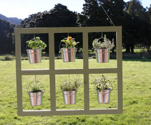 Hang the picture frame planter indoors or out.
