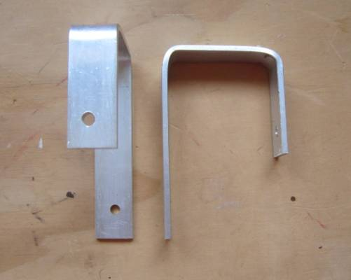 Step 4: Mark and drill and screw in the ceiling hooks. To hang, cut and bend the aluminium strip into a suitable ...