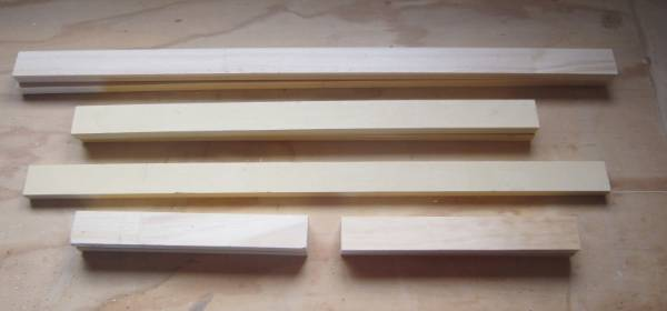 Step 1. Cut all the pieces to length. Sand the ends and edges. Position the top, bottom and side struts face down, in ...