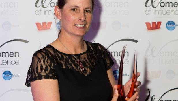 Katie Milne won the dairy award at the Westpac Women of Influence Awards 2015.