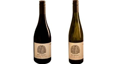 Wet Jacket Wines Central Otago Pinot Noir 2015 and Pinot Gris 2016.