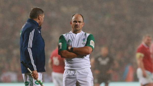 South Africa's Jaco Peyper will control the first test between the All Blacks and Lions