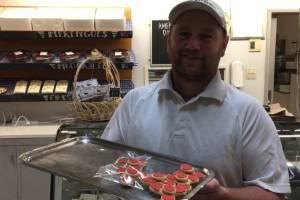 Andrew Surridge nearly sold out of his first lot of shortbread fidget spinners within two days.
