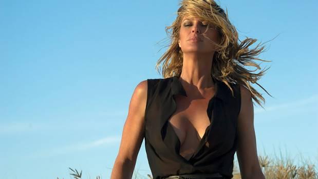 A Monty Adams' photograph of supermodel Rachel Hunter.
