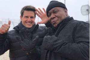 Mission: Impossible stars Tom Cruise and Ving Rhames have been photographed in Queenstown, NZ.