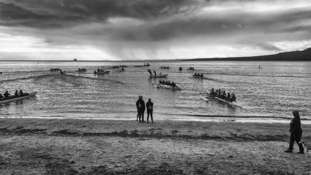 'Waka Races at Takapuna Beach' by Sora Joseph Waningsinggel was named the winner of the 2017 Nikon Auckland Photo Day ...