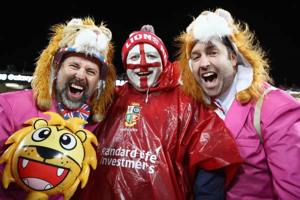 Lions fans soak up the atmosphere prior to the first test.