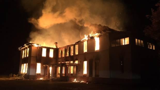 Blaze guts abandoned Ngawhatu Psychiatric Hospital