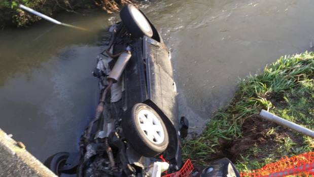 Driver found after car found crashed in Waikato creek