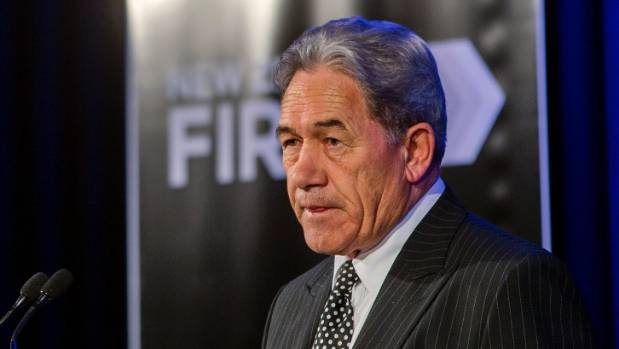 NZ First leader Winston Peters wants 25 percent of royalties going to the regions.