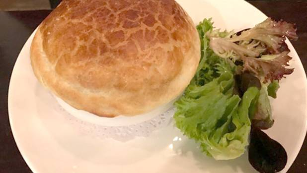 Charley Noble's house pot pie was warming on a cold night.