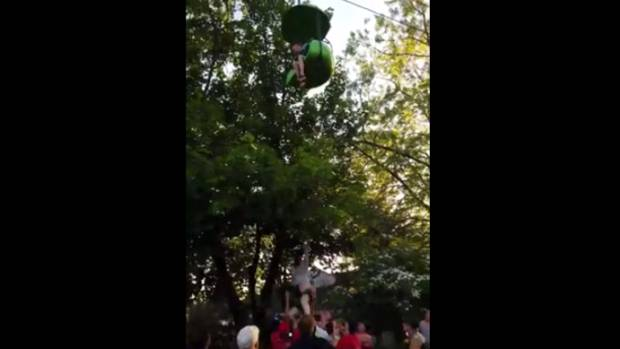Watch horrifying moment teen girl plunges from theme park ride — GRAPHIC VID