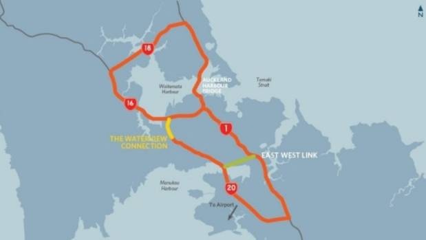 The link will improve travel times between the Onehunga to Penrose industrial hub.