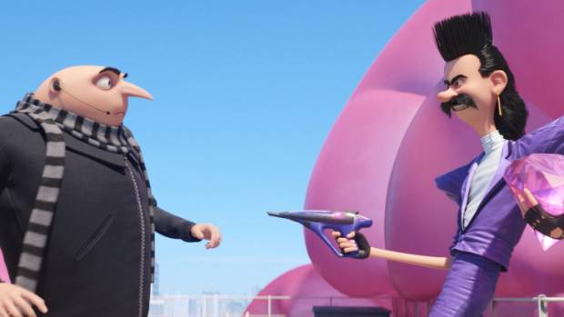 In Despicable Me 3, Gru takes on 1980s-inspired villain Balthazar Bratt.