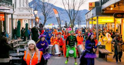 Community and cultural groups paraded through Queenstown during the Queenstown Winter Festival Auckland Airport Carnival ...