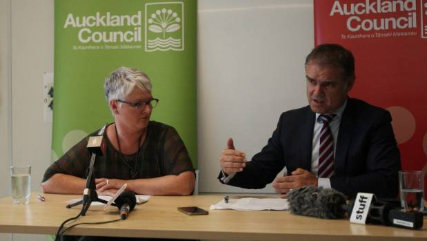 Auckland Libraries general manager Mirla Edmundson and Auckland Council's chief operating officer Dean Kimpton. ...