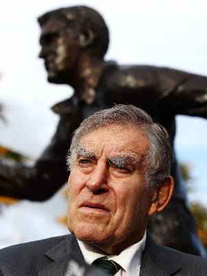 Sir Colin Meads in Te Kuiti at the unveiling of his statue in June.