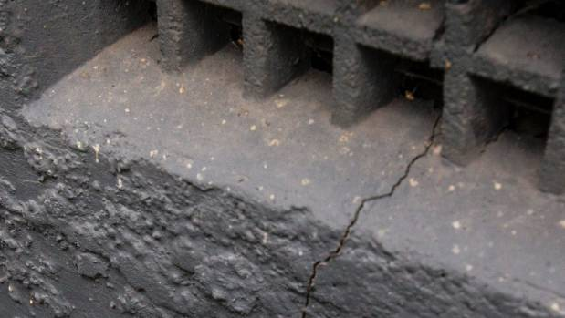 Foundation cracks repaired with epoxy resin can reopen during aftershocks.