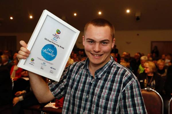Michael Pickering Webb Youth Spirit finalist at the Trustpower Nelson Tasman Community Awards.