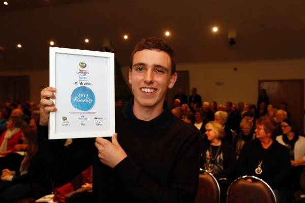 Caleb Binns Youth Spirit finalist at the Trustpower Nelson Tasman Community Awards.
