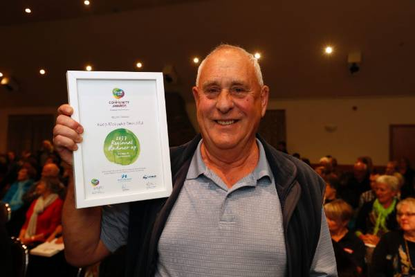 John Fisher of Keep Motueka Beautiful at the Trustpower Nelson Tasman Community Awards.
