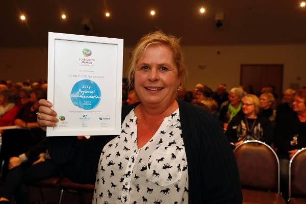 Janine Bowater of Boost Room Makeovers at the Trustpower Nelson Tasman Community Awards.